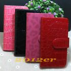 1x New fashion Leopard Crocodile Skin flip case cover for Various LG Cell phone