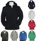 MEN'S LIGHTWEIGHT, UNLINED, ZIP UP, PRESHRUNK, T-SHIRT HOODIE, S M L XL 2XL 3XL