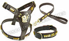 BROWN LEATHER DOG COLLAR LEAD HARNESS STAFFIE STAFFORDSHIRE BULL TERRIER  STAFF