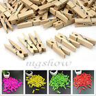 12/100pcs Mini Wooden Love Heart Clothes Photo Paper Pin Peg Clothespin Clips