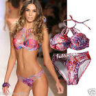 CelebStyle Hot Painted   Padded Halter Bikini