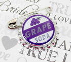 Grape Soda Bottle Cap Pin Ellie Badge - DP - Personalized