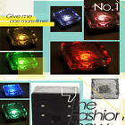 New Crystal Glass Solar Powered LED Durable Square Ground Brick Path Yard Light