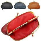 Lambland Womens / Ladies Leather Triple Frame Fastening Coin Purse
