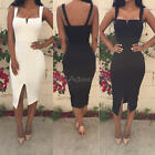 Sexy Women's Ladies Girls Club Party Bodycon Bandage Front Slit Mini Dresses