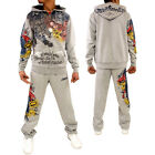 Ecko Athletic Paint Devil Sports Fleece Tracksuit Gym Running Marc Hooded Boys