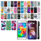 For Samsung Galaxy Grand Prime G530 PATTERN HARD Back Case Phone Cover + Pen