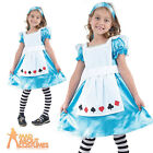 Child Alice in Wonderland Costume Girls Book Week Day Fancy Dress Outfit New