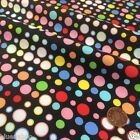 per half metre/fat quarter Black bubble spots 100 % cotton fabric