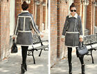 Women Girl Warm Winter Slim Artificial lambs wool Coat Jacket Outwear