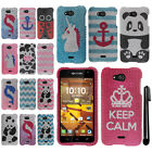 For Kyocera Hydro Wave C6740 Air C6745 DIAMOND BLING HARD Case Phone Cover + Pen