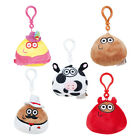 Pou Soft Toy With Sound 9 cm Clip On Pram Keyring Bag Rovio App Game Characters