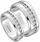 New Boxed 6mm/8mm His And Hers Titanium Wedding Engagement Matching Ring Set