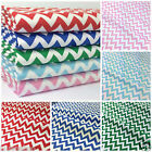 "Per Half Metre Zig Zag Pattern Red, Blue, Pink poly cotton fabric 44"" wide"