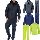 mens Raiken Waterproof Jacket & Trouser Set Outerwear Rain Suit Size