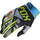 NEW FOX Racing Intake Green Blue Gloves motocross atv off road