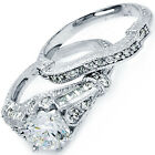 925 Sterling Silver Antique Vintage Style 2in1 Wedding Royal Set Ring Size 3-11