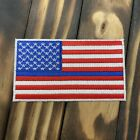 Thin Blue Line Full Color with White Border American Flag Patch