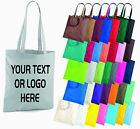 Personalised Custom Text Logo Printed Tote Bag Shopper Grocery Shopping Handbag