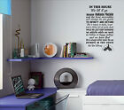 In this House rules Inspirational DISNEY Quote decal sticker vinyl wall art DHR1