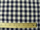 5 yards Blue White Checked Country Plaid Drapery Decor  Sewing Fabric