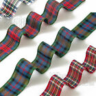 50m Tartan Ribbon Quality Polyester Scottish Ribbon Reels Woven Edge 50m Long