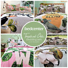Tropical Chic Bedding Set 4-Piece Full Queen King 100% Cotton Floral Duvet Cover