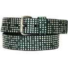 Liebeskind Berlin Women's Dark Green Leather Studded Belt Sz S & L NWT LKB24