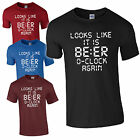 BEER Again O'clock Funny TOP digtal T-Shirt Fathers alcohol Day Dad party Gift