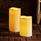 Large Outdoor Battery Operated LED Flameless Pillar Candle with Timer, 2 Sizes