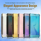 New For Samsung Galaxy S7/Edge Case Mirror Clear View Slim Window Flip Cover