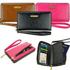 Wallet Women's Leather Smart Phone Passport Clutch Purse Wristlet Cover Case