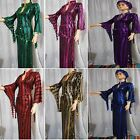 Egyptian Belly Dance Baladi Saidi Galabeya Dancing Dress Costum+2 SCARVES SMSMA