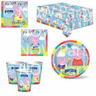 PEPPA GEORGE Princess Birthday Party Tableware Plates Cups Napkins Tablecover