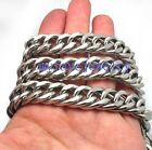 Wholesale 14.5mm Cuban Double Chain  Stainless Steel 10 meter Chain Bracalet