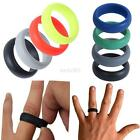 Unisex Silicone Wedding Band Rings Men Women Flexible Hypoallergenic Rubber Ring