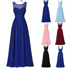 6 Color Long Formal Evening Ball Gown Party Prom Bridesmaid Maxi Dress Size 4-18
