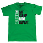 Eat Sleep Ride Repeat Mountain Bike T Shirt - Freeride Singletrack Downhill MTB