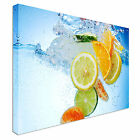 Fruit Cocktail in water Canvas wall Art prints high quality great value