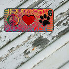 Peace Love Paw for iPhone 5/5s/5c/6/6s/7 Galaxy S4/S5/S6/S7 Rbr Blk Case