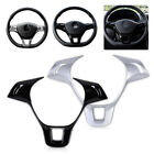 Silver/black Steering Wheel Cover Trim Chrome ABS For VW Golf MK7 Polo 2014-2015