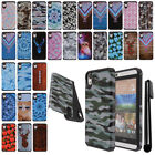 For HTC Desire 626 626S ShockProof HYBRID Silicone HARD Case Cover + Pen