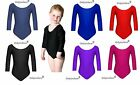 Dancewear Girls School Sports Dance Gymnastics Leotard Lycra Sports Size 2-16