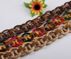 Mixed Handmade Coconut Shell Big Round Beads Lady Dress Waist Belt Gift Option