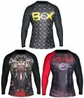 BEX MENS ATHLETIC COMPRESSION TOP THERMAL RASH GUARD SUBLIMATED-MMA SPORTS SHIRT