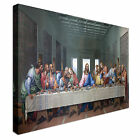 Mosaic Of Last Supper 40x20inches Wall Picture Canvas