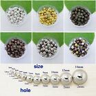 Wholesale Metal Round Spacer Beads 2mm 3mm 4mm 5mm 6mm Mix Color Charms Findings