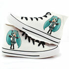 Hot!Fashion Cosplay Vocaloid Hastune Miku Sneakers White Casual Canvas Shoes