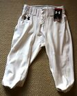 Mens Under Armour Heat Gear Football Pants with Internal Pockets White...NWT