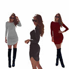 Women's Bodycon Long Sleeve Mini Dress Ladies Party Evening Summer Slim